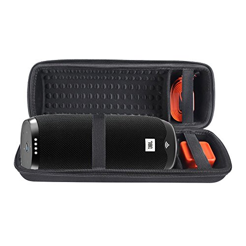 Hard Carry Cover Case for JBL Link 20 Voice-Activated Portable Bluetooth Speaker with Shoulder Strap (Black)
