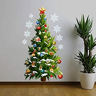 Monster* Wall Stickers Christmas Tree Wall Stickers Removable Art Decals Christmas Decoration for Home New Year Decoration