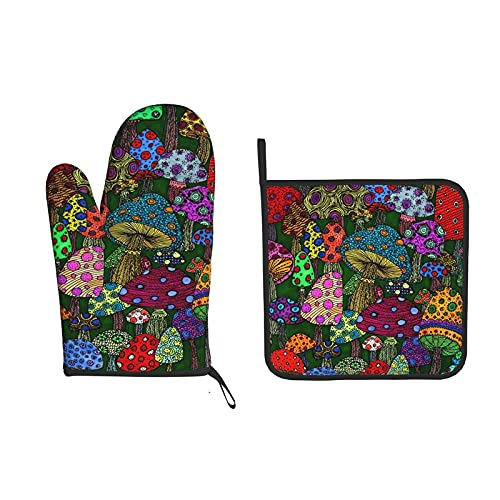 Art Painting Heat Resistant Oven Mitts