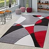 TT Home Alfombra De Salón Moderna Motivo Abstracto...