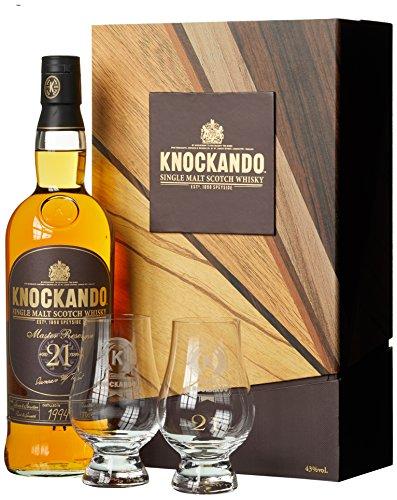Knockando 21 Years Old Master Reserve Whisky - Geschenkverpackung mit 2 Gläsern (1 x 0.7 l)