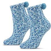 JARSEEN 2 Geschenk Box Kuschelsocken Weiche Bequeme Warme Flauschige Haussocken für Damen Mädchen Weihnachtssocken Valentinstag Geschenk