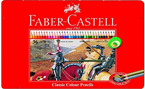 Faber-Castell 115846 - Buntstifte Classic Colour, 36er Metalletui (2er Pack)