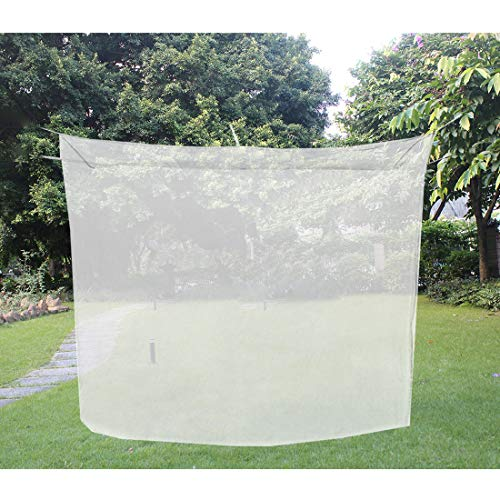 KRATARC Mosquito Netting Canopy Net Mesh for Single Bed Compact and Lightweight Camping Hiking Climbing Outdoor (White)