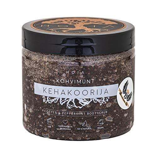 HOIA Körperpeeling KAFFEE & MINZE | veganes Peeling & 100% natürlich | bekämpft Cellulite & verbessert Durchblutung | Duft: Kaffee & Minze | handgemachte Naturkosmetik aus Saaremaa | 200ml