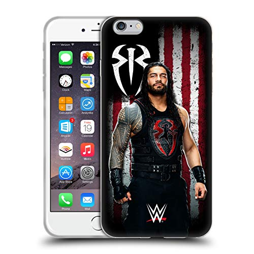 Head Case Designs Officially Licensed WWE Roman Reigns American Flag Superstars Soft Gel Case Compatible with Apple iPhone 6 Plus/iPhone 6s Plus