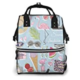 NHJYU Bolsa de pañales, Large Capacity Waterproof Travel Ma-na-ger,baby Care Replacement Bag Versatile Stylish And Durable, Suitable For Mom And Dad,Summer Fashion Accessories Set