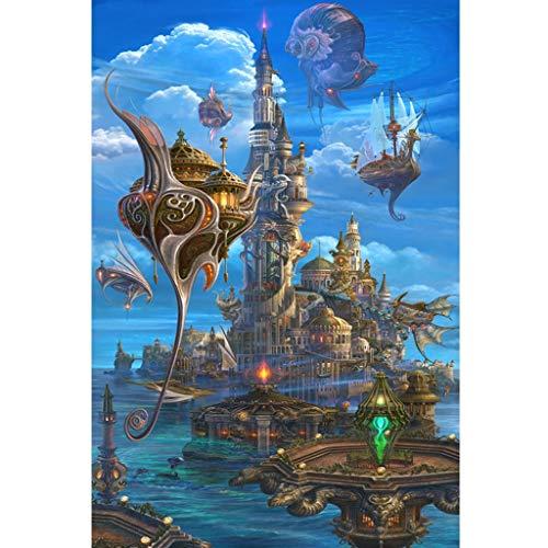 Puzzels 1000 Stuks, 1000/1500/2000/3000/4000/5000 Stukjes, Zee Kasteel, Volwassen Kinderen Houten Grote Puzzel Familie Spel Decoratie Speelgoed Cadeau -5.5 (Size : 4000 pieces)