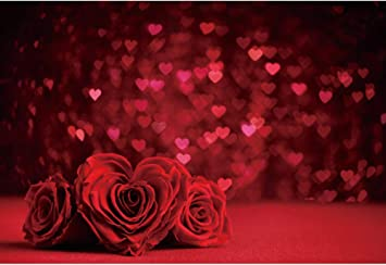 Leyiyi 8x8ft Photography Background Oil Painting Red Series Love Hearts White Backdrop Valentines Day Couples Confessions Lovers Portraits Decoration