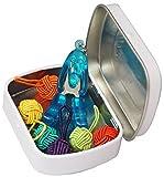 HiyaHiya Notion Dose mit farbigem Garn Ball Stitch Marker und Tier Blechschere, Verschiedene