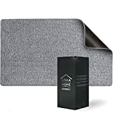 Linka Home Indoor Doormat for Entrance - Super Absorbent Rugs for Entryway - Soft and Washable Door Mats Inside Non Slip - Waterproof Low-Profile Front Door Rug with Rubber Backing 28 x 20 - Gray