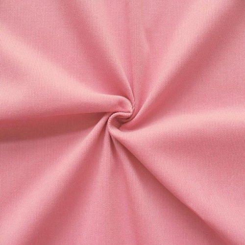 STOFFKONTOR 100% Baumwolle Feincord Babycord Stoff Meterware Rosa