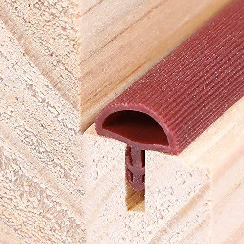 Gummidichtung Dichtungen aus Gummi Tür Fenster Profildichtung DIY Dichtband 6 Meter Holzzargendichtung Flügelfalzdichtung Dichtungsprofil T-Typ Braun