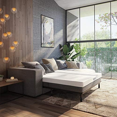 Best Classic Brands 4.5-Inch Cool Gel Memory Foam Replacement Sleeper Sofa Bed Mattress, Queen, White