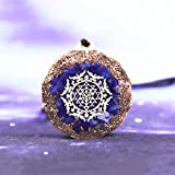 ABCBCA Lapis Lazuli Orgone Colgante Equilibrio Energía Collar de Energía Meditación Joyería Cristal