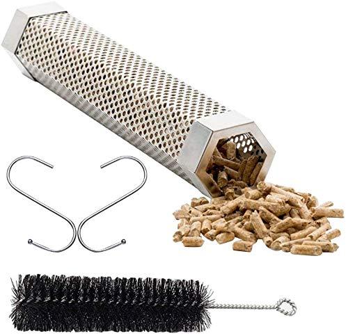 Pellet Smoker Tube BBQ, Smoking Pellets Tube, Rauchgenerator für Kalt / Heißräuchern, Ideal zum Räuchern - Quadratisch