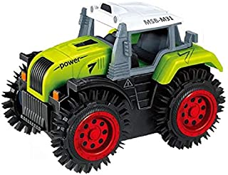 GulfDealz Tractor Car Model Alloy Children Car Mini Return Farmer Tractor Car Scale Vehicle Educational Electric Toy Car, ...