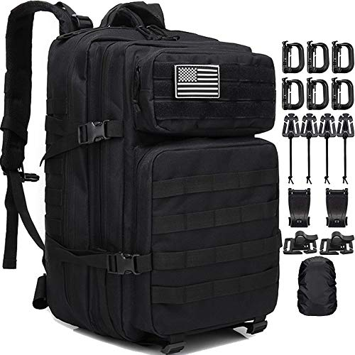 Military Tactical Backpack, Createy Large Army 3 Day Assault Pack 45L Molle Bag