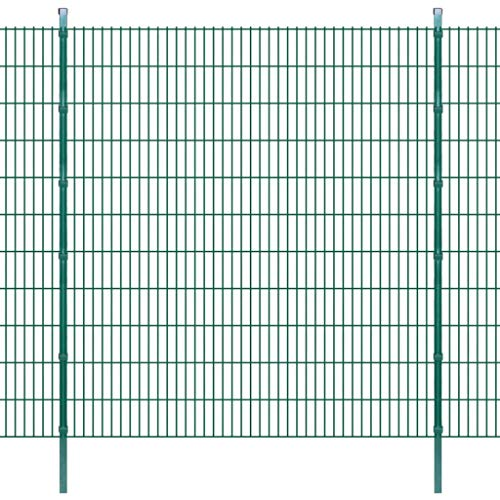 Enjoy your shopping with 2D Garden Fence Panels & Posts 2008x2230 mm 40 m Green
