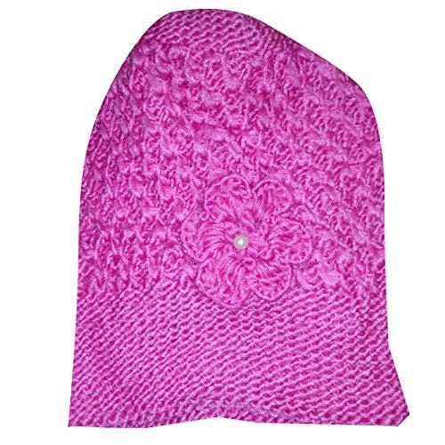 Women Cold protection woolen cap (Pink)