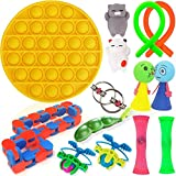 Fidget Sensory Toys Set Fidget Pack Stress Relief Toys for Kids and Adults,Push Pop Bubble Fidget Sensory Toy Squeeze Beans Marble and Mesh Flippy Chain and More