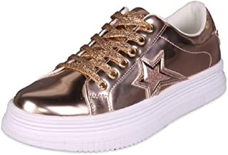 Women's Lace Up Platform Fashion Sneakers Skate Sport Running Shoes DL