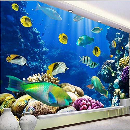 Wzxzf Die Sea World Fish Murals 3D Fototapete Für Wohnzimmer Schlafzimmer Home Wandkunst Dekorative Benutzerdefinierte Jede Größe Wandbekleidungen-450Cmx300Cm