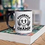 DKISEE Taza de futbolín, taza de café de futbolín, divertido regalo de campeón de futbolín, regalo para futbolistas, taza de campo, vaso