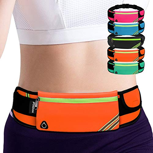 AIKENDO Belt Bag Fanny Pack, Gear Running Belt Waist Bag for iPhone 11,Travel Money Belt Cell Phone Holder for Gym,Workout, Fitness, Exercise, Hiking, Ideas for Runners Mom Father Christmas