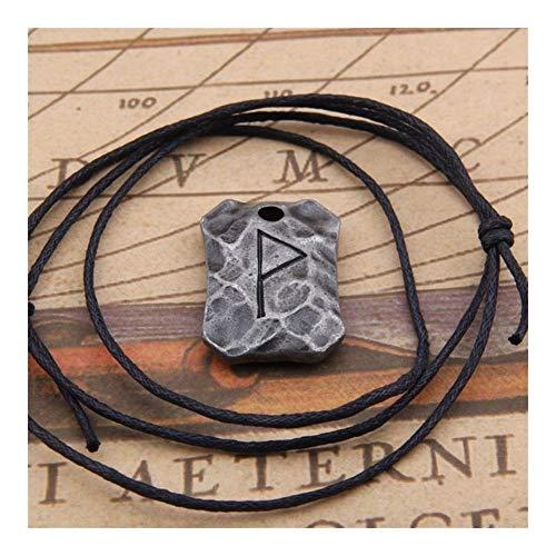 AdorabFruit Présent Pendentif Regalos De Joyería De La Vendimia De Coll Hombres Símbolo De La Runa De Amuleto Colgante, Collar De Talisman (Color : 15)