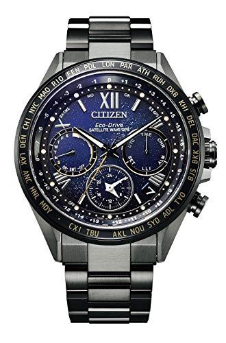 [Citizen] 腕時計 アテッサ チタニウム技術50周年記念 コズミックブルーコレクション 限定モデル1,300本 替えバンド(ナイロン)付 シリアルナンバー入 CC4015-86L メンズ ブラック