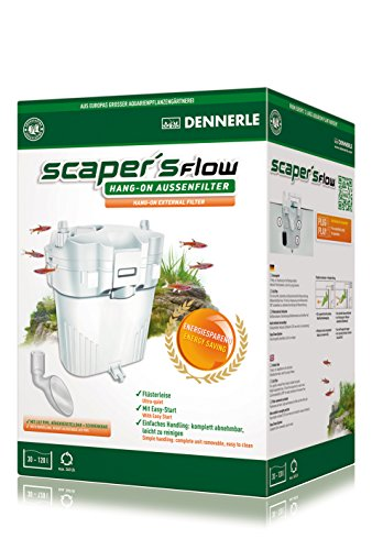 Dennerle Scaper's Flow-Hang On External with Litreilypipe Filter, White