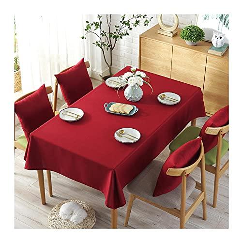 caihuashopping Cubierta de Mesa de Tela Decorativa de Tela de Tela, algodón y Lino para Uso de Tela para Uso Exterior e Interior (roja, Tres Opciones de tamaño) (Size : 90 * 150cm)