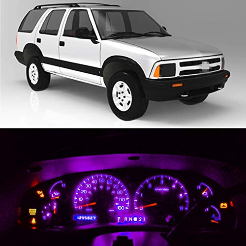 WLJH Zeer Helder Roze Instrumentenpaneel streepje licht LED Gloeilampen lamppakketpakketten Lampen 12V voor 1995-1997 Chevrolet S10 Blazer,21 Stuks