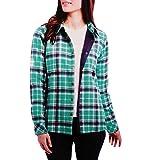 Orvis Women's Fleece Lined Shirt Jacket (SEA Glass Plaid, X-Large)