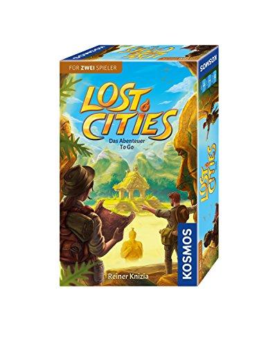 KOSMOS 711429 - Lost Cities - Das Abenteuer to go, Abenteuerspiel ab 2 Personen ab 8 Jahre, Mitbringspiel, Familienspiel, Gesellschaftsspiel, Reisespiel, kleines Geschenk, Mitbringsel