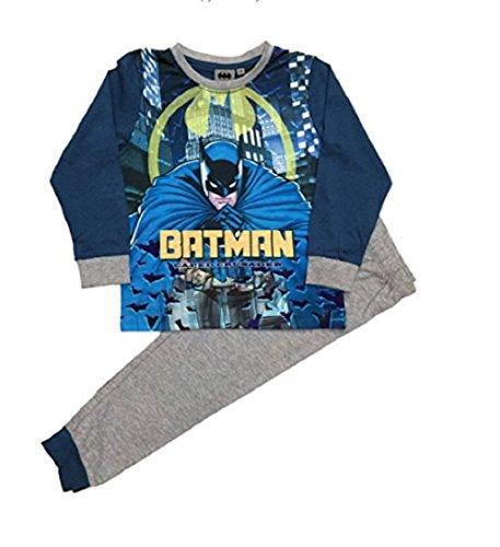 GladRags® Pijama largo para niños de 3 a 4 5 6 7 8 9 10 11 12 años Batman Spiderman Avengers Pokemon DC Comics Super Heros Pijamas PJ Multicolor Azul Batman 10 años