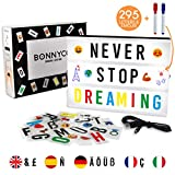 Light Box A4 mit 295 Buchstaben und Emojis, USB - BONNYCO | Ä Ö Ü ß | Led...