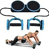 TANCEQI AB Abdominal Exercise Roulette Abdominaux AB Wheel Roller Cordon élastique Multifonction Plaque Taille Twist Équipement d'exercice avec Tapis De Genou