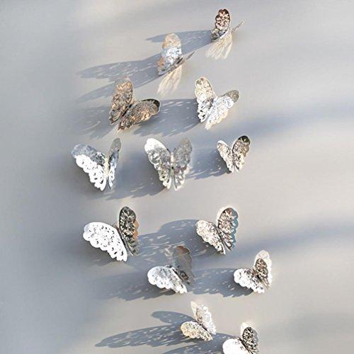 Vovotrade 3D holle muurstickers vlinder koelkast woonkamer slaapkamer keuken voor decoratie nieuw