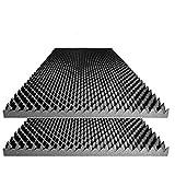Foamily Acoustic Foam Egg Crate Panel Studio Foam Wall Panel 48' X 24' X 2.5' (2 Pack)