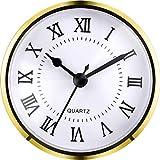 3-1/2 Pulgadas (90 mm) Fit-up/Inserto de Reloj de Cuarzo con Números Romanos, Movimiento de Cuarzo (Dorado)