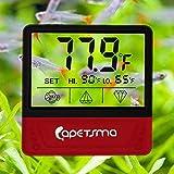 Termómetro de acuario, termómetro de tanque de peces con gran pantalla LCD, sensor de temperatura del tanque adhesivo que garantiza una lectura precisa para anfibios y reptiles.