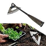 TAFRRYYG Herramientas manuales de jardinería de acero, azada de...