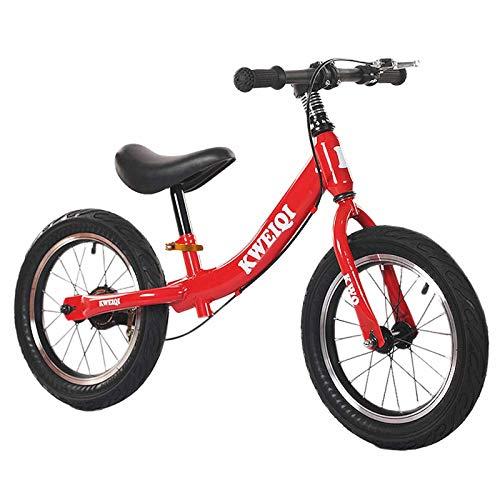 Bicicleta Sin Pedales Bici Niños Pequeños Bicicleta De Equilibrio Para 3 4 5 6 7 8 Años, Adecuada Para 1-1,3 M De Altura - Exterior Capacitación Bicicleta Sin Pedales Con Ruedas De 14 Pulgadas Y Freno