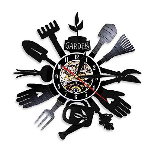 RFTGH Vajilla utensilio de Cocina Reloj de Pared Cuchara Tenedor Reloj decoración de Vinilo Disco de Vinilo Reloj de Pared decoración del hogar