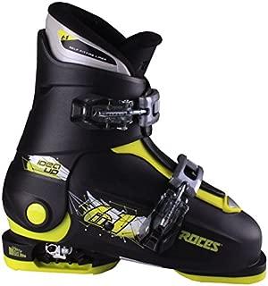 Roces 2018 Idea Adjustable Black/Lime Kid's Ski Boots 19.0-22.0