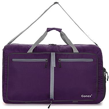 Gonex 80L Packable Travel Duffle Bag, Large Lightweight Luggage Duffel (Purple)