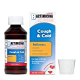 Bactimicina Cough & Cold Liquid, for Cough, Stuffy Nose, Chest Congestion, Ages 12 and Up, Made in USA, 4 FL. OZ.