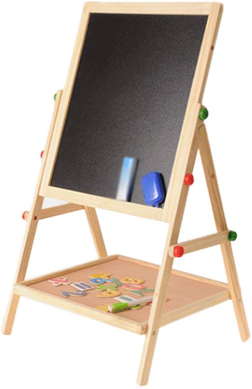 centro comercial de moda Tablero de Dibujo de Doble Cochea para Niños magnético magnético magnético Tipo de Soporte de Pizarra pequeño para Niños Tablero de Escritura Ajustable para el hogar (Color   Wood)  descuentos y mas